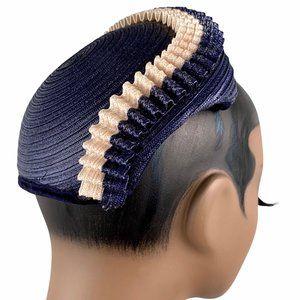 Vintage 40s WWII Woven Straw Juliet Hat